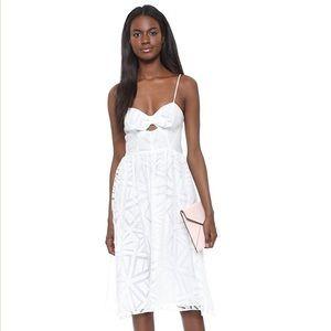 NWT Parker White Miranda Cutout Fit & Flare Dress